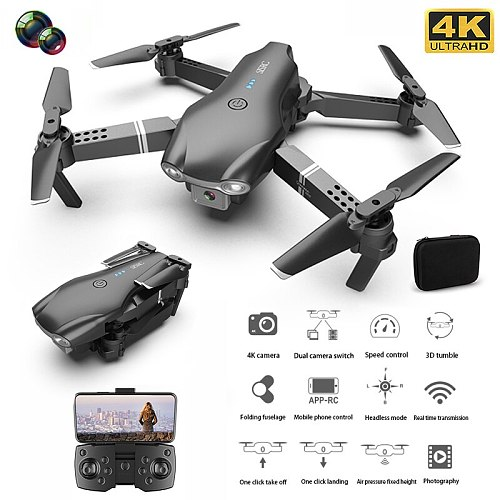 2021 New S602 RC Drone 4K HD Dual Camera Professional Aerial Photography WIFI FPV Foldable Quadcopter Toys