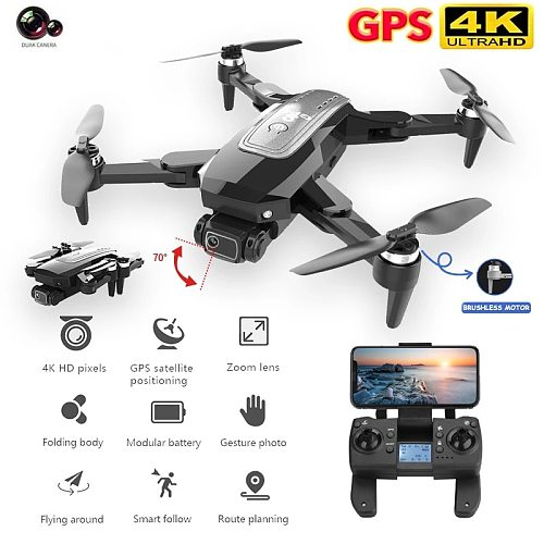 HJ38 Drone With 4K HD Camera Foldable Professional Quadcopter Distance 2000M Brushless Motor GPS 5G Wifi Rc Helicopter RC Toys