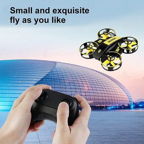 RH821 Mini RC Drone Headless Drones Mini RC Quadrocopter One Key Land Auto Hovering 3 Batteries Helicopter Flysky Kids Toy Gift