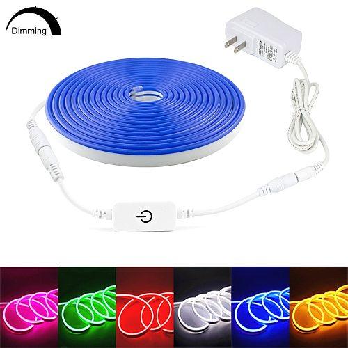Waterproof Led Neon Light Led Strip 12V Dimmable Touch Sensor / Hand Sweep Sensor IP67 Flexible Led Tape Light 1M 2M 3M 4M 5M