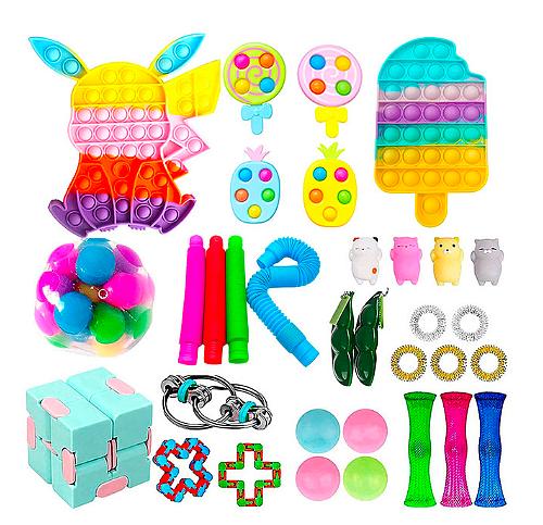 1 Set Fidget Toys Stress Relief Toys Autism Anxiety Relief Stress Pop Bubble Fidget Sensory Decompression Toy for Kids Adults