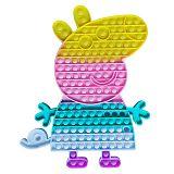 30cm Peppa Pig Big Size Bear Fidget Toy Push Pops Simple Dimple Toy Sensory Rainbow Pop It Bubble Fidget Toys Adult Stress Relief Toy