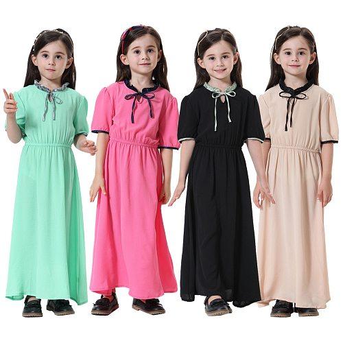 Muslim Kids Clothing Girls Abaya Muslim Girl Dress Children Abaya Middle East Moroccan Ramadan Arab Islamic Clothing Long Dress