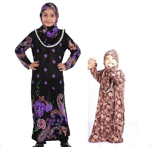 Turkey Clothing Muslim Kids Abaya Girl Dress Caftan Enfant Islamic Dresses Turkish Marocain Turkish Kaftan Jilbab Turc Prayer