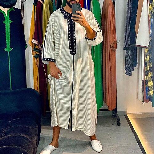 Men Jubba Thobe Dress Muslim Islamic Clothing Abayas Long Robe Saudi Musulman Abaya Moroccan Caftan Islam Dubai Arab Dressing