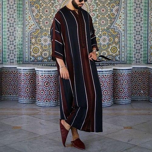 Men Jubba Thobe Dubai Muslim Islamic Clothing Kimono Long Robe Saudi Musulman Wear Abaya Caftan Islam Dubai Arab Dressing Mens