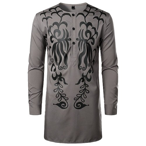 Men Arabic Jubba Thobe Muslim Fashion Islamic Clothing Abaya Dubai Kaftan Male Long Sleeve Stitching Saudi Pakistan Sweater Robe