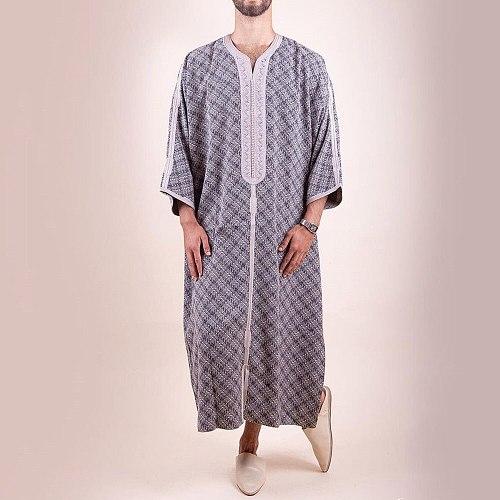 Muslim Islamic Clothing Men Jubba Thobe Dress Abayas Long Robe Saudi Musulman Abaya Moroccan Caftan Islam Dubai Arab Dressing