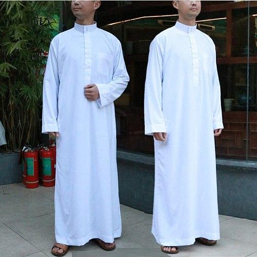 Abaya Muslim Dress Pakistan Clothing Islamic Mens Arab Robe Saudi Arabia Kaftan Middle East Casual Long Sleeve Robe Eid Mubarak