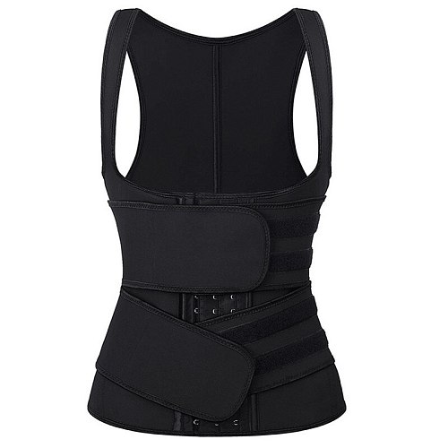 Elastic Sticker Two Straps Belts Latex Rubber Waist Training Cincher Hooks and Eyes Unerbust Corset Vest Back Support