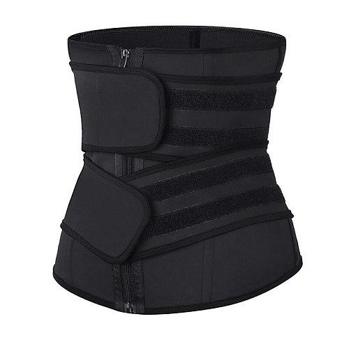 Waist Trainer Corset Cincher Body Shaper Detachable Trimmer Belt Weight Loss Tummy Control Modeling Straps Workout Sweat Girdle