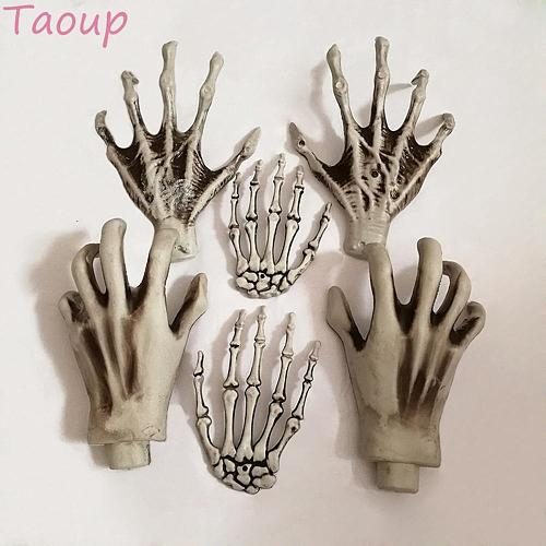 Taoup Scary Decor Halloween Accessories Ghost Hands Props Haunted House Halloween 2018 Horror Room Escape Skull Witch Hands Bone