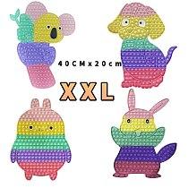 New Big Size XXL Fidget Toy Rainbow Dinosaur Unicorn Butterfly Push Bubble Fidget Sensory Toys For Children Interactive Game Toy