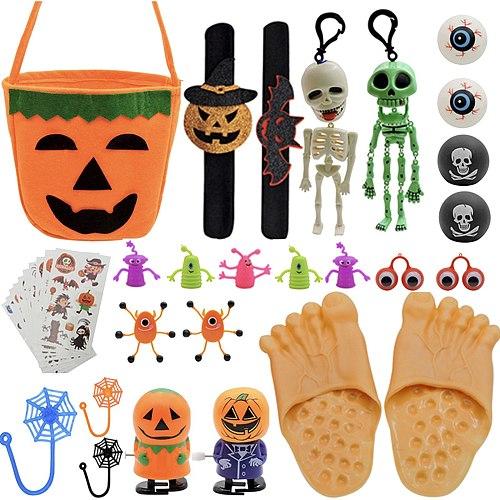 Halloween push fidget toys set Trick Decoration Game Trick Pumpkin Candy Bucket simpl dimmer antistress for kids Party Gift