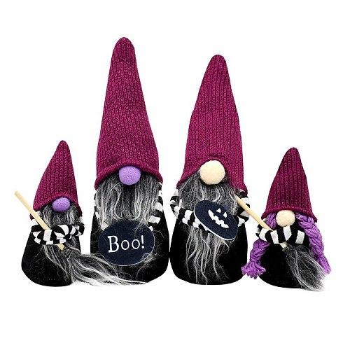 Halloween Magic Broom Dwarf Atmosphere Decoration Home Children's Toys Scary Halloween Party Decoration Halloween Props 2022