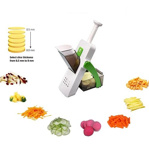 Multifunctional Vegetable Slicer Manual Cutter Chopping Knife Cut Fruit French Fries Cutter Safe Meat Cutter Kitchen Tool