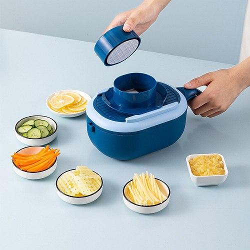 Multifunctional Slicer Grater Manual Shredder Drain Basket Fruit Vegetable Cutter Household Kitchen Washing Cutting Chopper