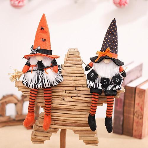 Faceless Doll Fashion Halloween Gnome Plush Decoration Faceless Doll Handmade Elf Figurines Ornaments Holiday Home Decoration