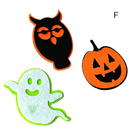 Halloween Non-woven Hanging Ornaments with Skull Ghost Pumpkin Letter Pattern Wall Door Decor Halloween Party Supplies ALS88