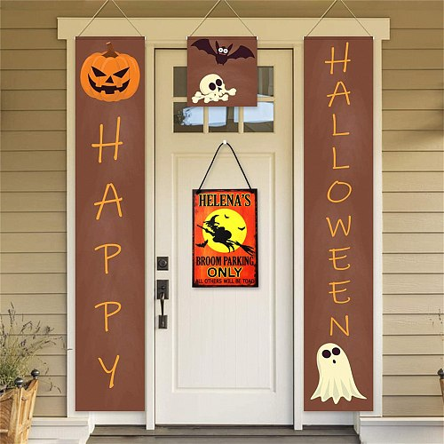 Halloween Decorations For Home Halloween Wood Hanging Sign Trick Or Treat Door Hanging Sign Pumpkin Party Decor Party Decoration
