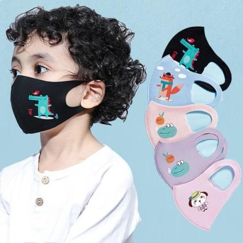 5pcs Face maske For kids Children's Maske Disposable Outdoor Ear Loop Cartoon Topmask