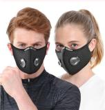 ( Buy 4 Free Shipping ) Reusable Dust Face Mask with Filters (Black)