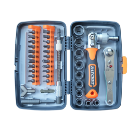 Popsail 38 in 1 easy carry rachet screwdriver rachet wrench with bits and sockets