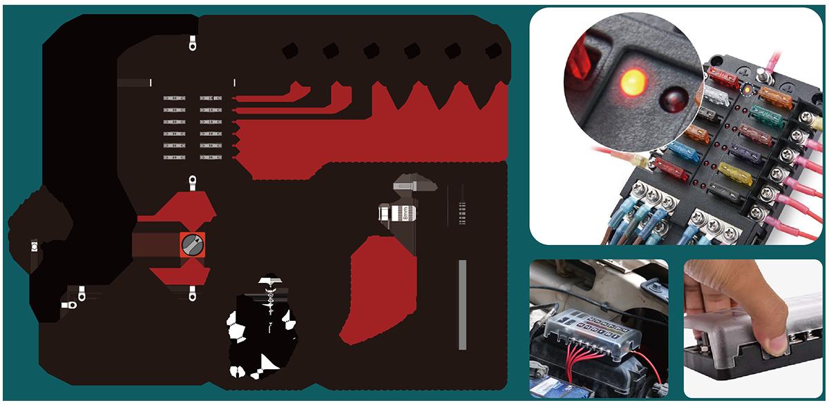 fuse holder box diagram