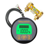 Popsail 12/24V 50A 100A 350A battery capacitor indicator voltage meter amp meter