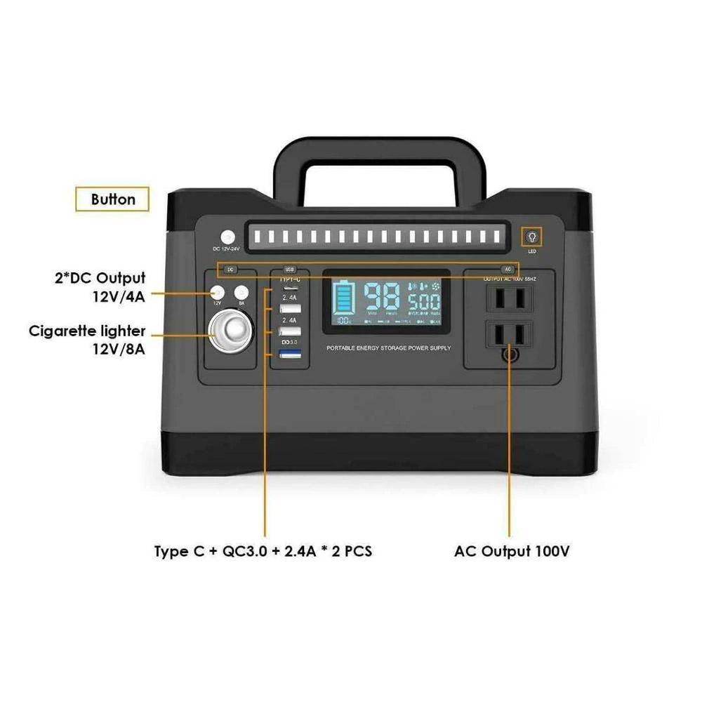 550Wh portable solar power generator