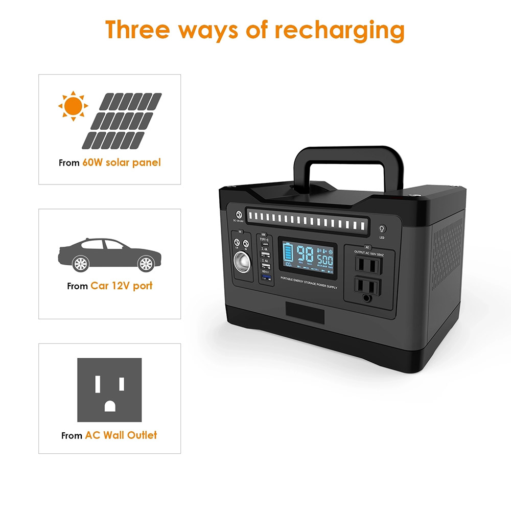 Portable 550Wh Solar Generator