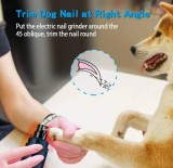 Dog Nail Grinder Professional 2 Speed Electric Rechargeable Pet Nail Trimmer Painless Paws Grooming & Smoothing