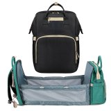 Diaper Bag Backpack Expandable Baby Portable Bed with Changing Station