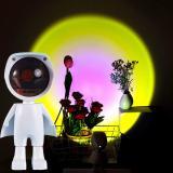 Projection Sunset Lamp 360 Degree Adjustable Robot Figure Lamp