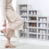 2020 New Shoe Box Organizer Drawer Type Shoe Box-stacking Storage Box Shoes Container