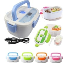 Portable Electric Heating Lunch Box Food Car Home Two-In-One Warmer Storage Box Kit