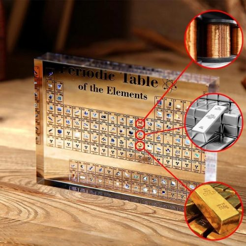 Collectable Periodic Table with REAL Elements