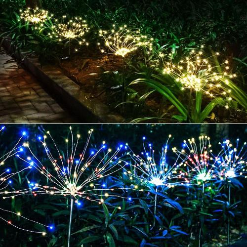 Solar Fireworks Lawn Light