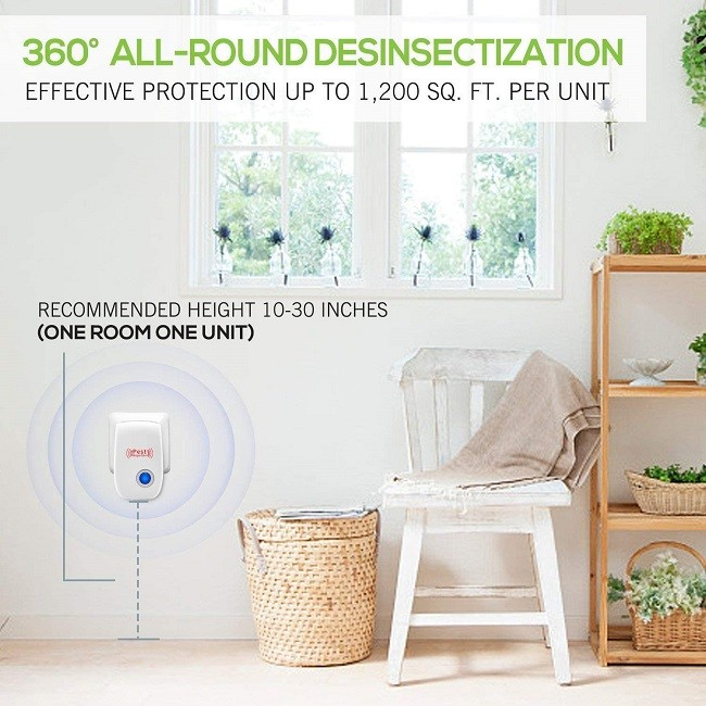 4 Pack 2021 Newest Indoor Electronic Plug Repellent Pest Control Kit