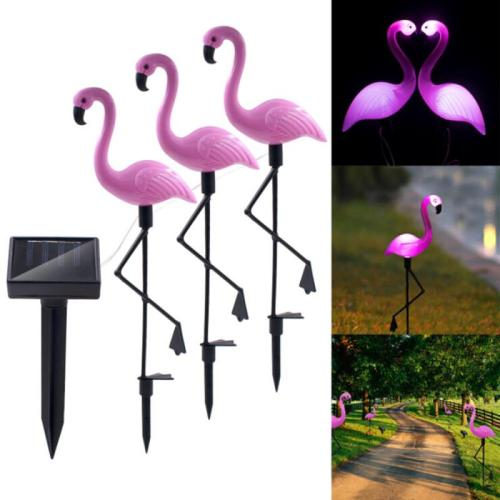 Solar-power Garden Light Flamingo Lawn Lamp Waterproof Night Light for Outdoor Garden
