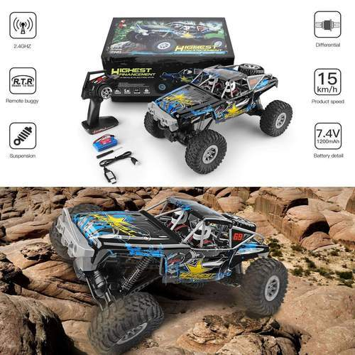 RC Racing Car Waterproof Off-Road Rock Electric Crawler Wltoys 1/10 2.4GHz 4WD