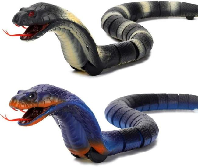 Infrared Remote Control Giant Snake Prank, Snake Cobra Toy