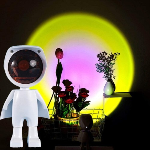 Projection Sunset Lamp 360 Degree Adjustable Robot Figure Lamp