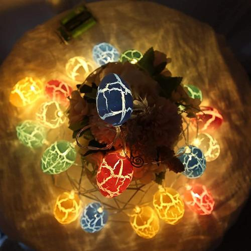 Easter decoration 10 feet 40 eggs led holiday fairytale copper wire lamp