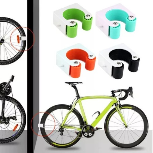 Bike Storage Rack Bicycle Wall Mount Hook Road Bike Parking Buckle Portable Wall Rack