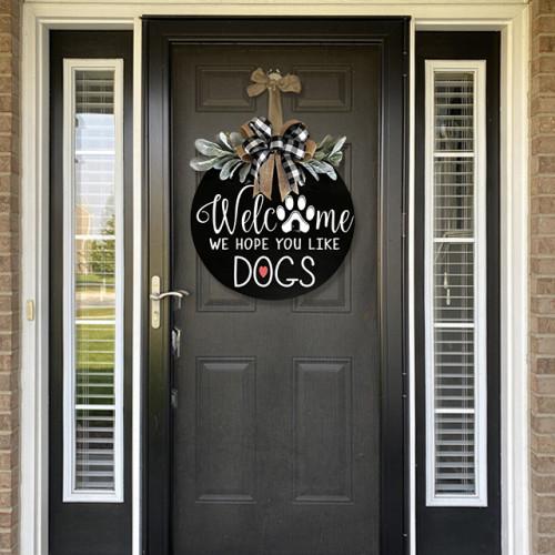 Welcome Sign Front Door Hanger