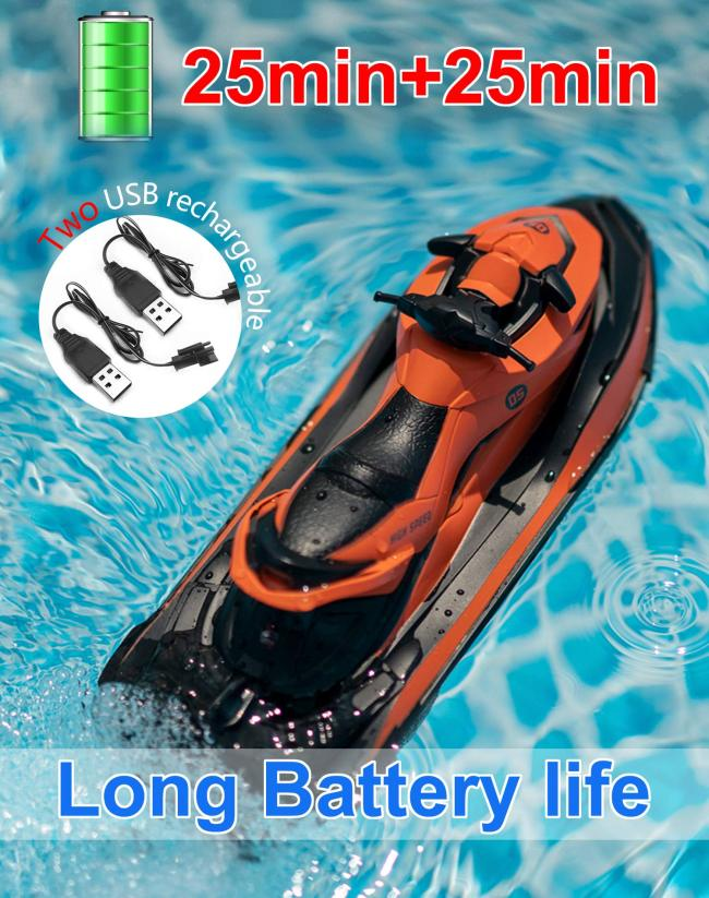 2.4G RC Kids Boats - Kids and Adults Remote Control Boat for Lakes and Swimming Pools