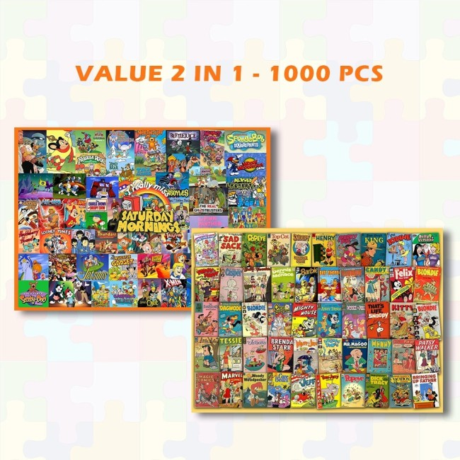 I Miss Saturday Morning Cartoons Jigsaw Puzzle 500/1000 Pieces