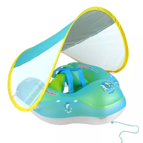 Baby Safety Swimming Ring With Sun Canopy