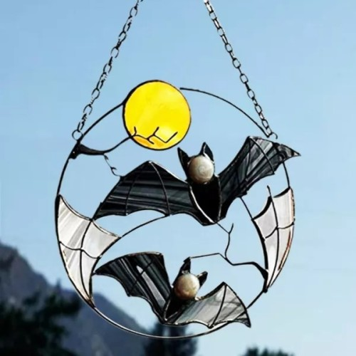 Hanging Pendant Eye-catching Decorative Alloy Gothic Bat